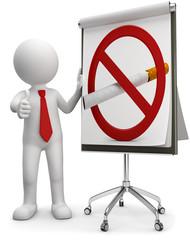 3d Männchen nicht Raucher Seminar