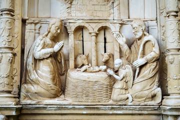 Christmas Nativity Scene, Baby Jesus.
