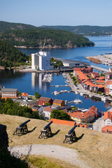 Cannons at Fredriksten Fort and Fredriksten view, Norway