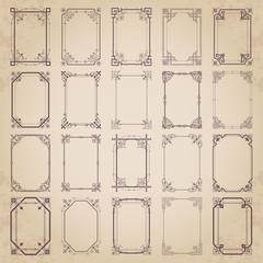 Decorative vintage frames