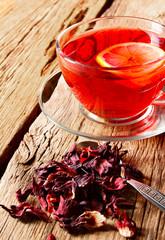 pomegranate tea with lemon.