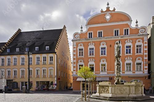 Leinwanddruck Bild Stadtplatz Straubing