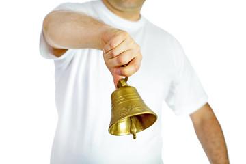 Man ringing bell