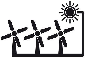 alternative energy symbol with windmill