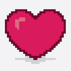 Heart made out of large pixels