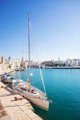 Boats in a harbor, Monopoli, Italy