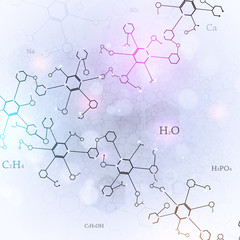 Chemical Abstract White Background