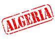 Постер, плакат: Algeria red stamp text