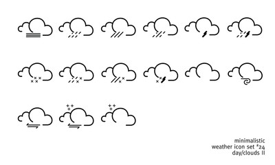 weather icon set 24