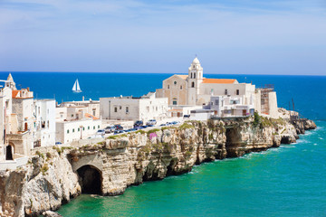 View of Vieste, Southern Italy