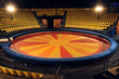 Leinwandbild Motiv circus ring and chairs for people