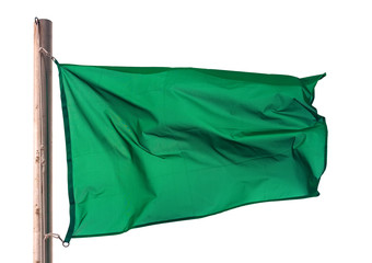 Green flag on white background