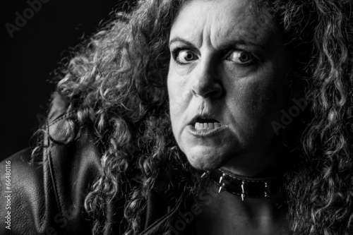 woman with raging look