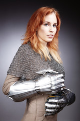 Medieval fighter lady