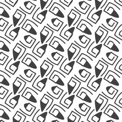Seamless pattern lines monochrome vector background