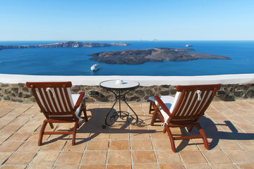 Sea view from Fira, Santorini