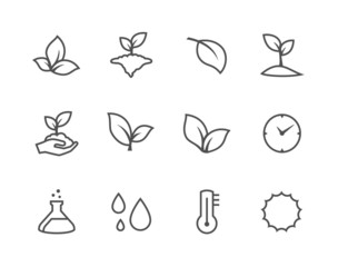 Outline plants icons