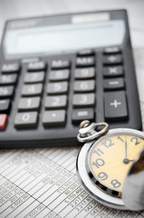 Watch and the calculator on documents.