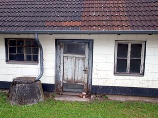 Haus mit Doppeltür