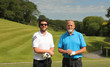 Two golfers on a golf course