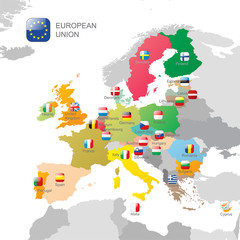 The European Union map