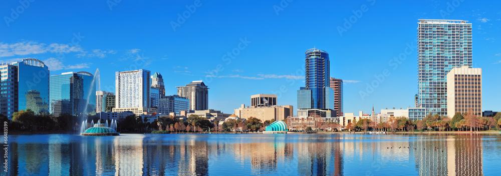 jęzioro krajobraz miasta horyzont - powiększenie