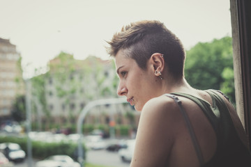 young lesbian stylish hair style woman