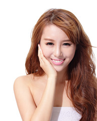UV care and Beautiful woman face