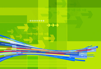 abstract green line graphics