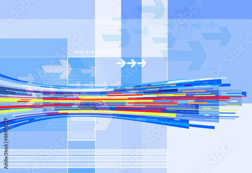 abstract blue line graphics