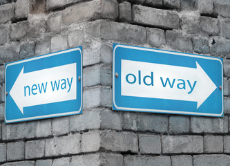 New and old way directions
