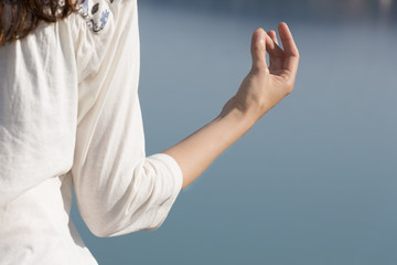 Closeup of a meditation pose