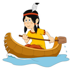 Indian in the boat