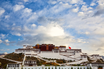 Potala palace early in the morning, Lhasa, Tibet