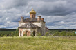 Реставрируемая церковь Николая Чудотворца в деревне Средняя