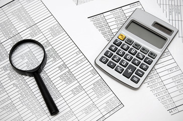 Magnifier and the calculator on documents.