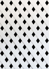 The texture of white slat wall