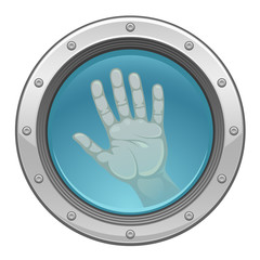 Hand in porthole