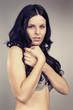 Black hair beauty posing for portraits
