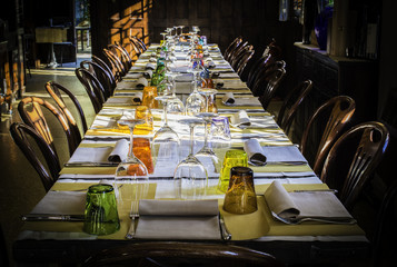 Table in an Italian restaurant © Deyan Georgiev