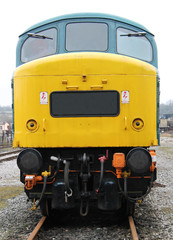 The Front of a Powerful Diesel Engine Train Loco.