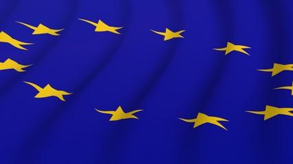 Flagge EU wehend