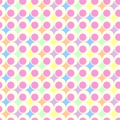 retro geometric ball background in pastel colors