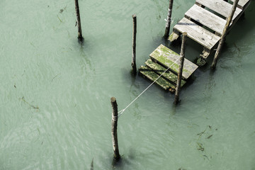 Jetty on canal in Venice