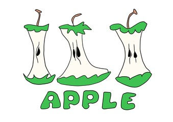 doodle bitten apple