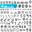 Audio Multimedia Icon Set