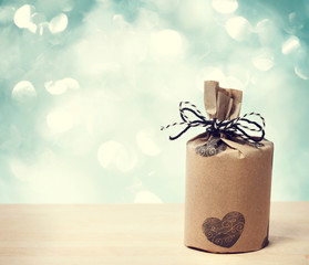 Present wraped in a rustic earthy style