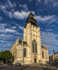 Church Notre-Dame de la Chapelle in Brussels, Belgium