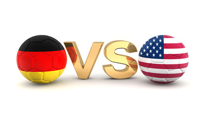 Footballmatch - Germany vs USA