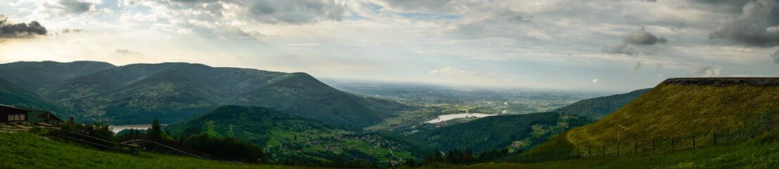 Panorama photo of  Beskid mountains